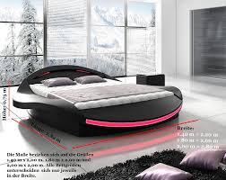 Betten Schlafzimmer Amazon Xxxl Designer Bett Designerbett Led Beleuchtung Schwarz Schwarz