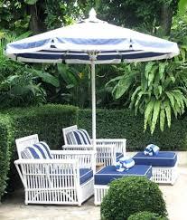Blue And White Patio Umbrella Blue And White Patio Umbrella Rectangular Market Stripe Pottery