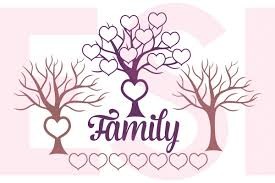 family tree design with hearts by design bundles
