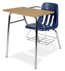 student desk and chair virco soft plastic student chair desk combo with bookrack