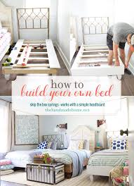 how to build your own bed skip the boxsprings the handmade home