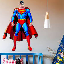 compare prices on superman wall stickers online shopping buy low superman wall sticker decor decal vinyl room art comics decals 3d superhero wall stickers for kids