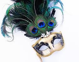 peacock mardi gras mask black stick masquerade mask mask women handheld