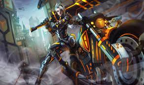 wallpaper league legends game lol moba riven warrior