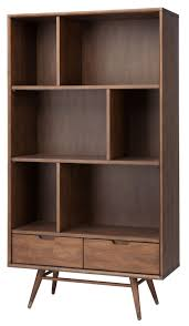 Large Bookcases Large Bookcase In Walnut By Nuevo Hgst119