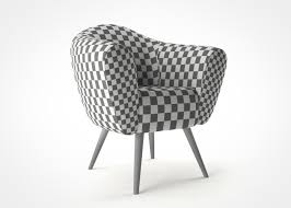 velvet chair scandinavian design armchair 3d model max obj mtl
