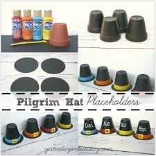 pilgrim hat placeholders yesterday on tuesday