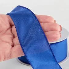 royal blue ribbon royal blue satin wired ribbon ribbon and trims craft supplies