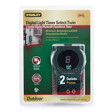 stanley outdoor light timer instructions stanley 2 outlet digital photocell outdoor timer the holidays