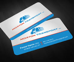 41 professional trucking company business card designs for a