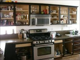kitchen glass cabinet kenmore elite french door refrigerator