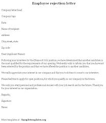 sample job rejection letter custom college papers
