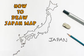 how to draw japan map 日本地図を描く方法 youtube