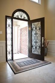Home Entrance Decor Outstanding Home Fiberglass Entry Door With Arched Style And