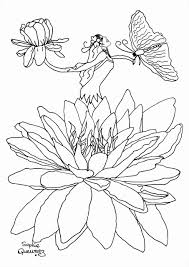 fairy in flower zen and anti stress coloring pages for adults