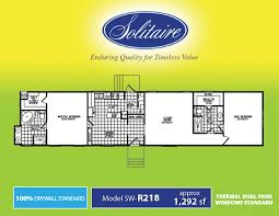 2 Bedroom Single Wide Floor Plans Floorplans For Single Section Manufactured Homes Solitaire Homes
