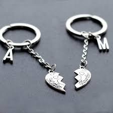 baby keychains keychain christmas gift initials heart