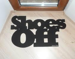 Shoe Home Decor Shoes Off Door Mat Custom Doormat Home Decor Elegant Floor
