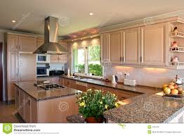 Kitchen Interiors Designs Kitchen Interior Of Large Spanish Villa With Fresh Flowers And