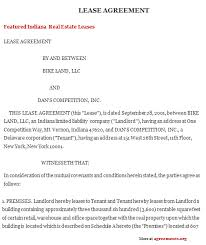indiana lease agreement sample indiana lease agreement template