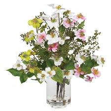 silk flower centerpieces dogwood silk flower arrangement nearly