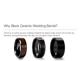 black wedding band why black ceramic wedding bands