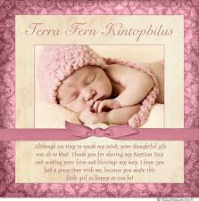 charming baptism photo thank you card baby damask event