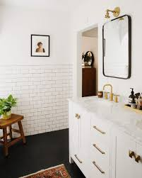 Marble Bathrooms Ideas New Darlings Our Master Bathroom Reveal Modern Brass And Marble