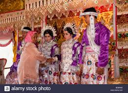indonesian brides indonesia sulawesi sidereng village wedding guest meeting brides