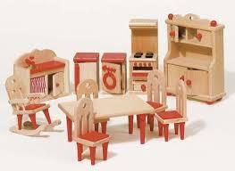 Dollhouse Furniture Kitchen European Design Classic Dollhouse Furniture Blueberry Forest Toys
