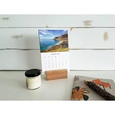 2018 desk calendar with wood stand infinite abyss