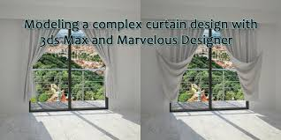 modeling curtains in 3ds max and marvelous designer youtube