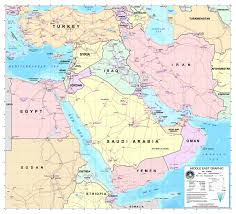 Map Middle East by Large Detailed Graphic Map Of The Middle East With Roads And All