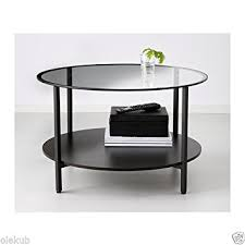 Coffee Tables Black Glass Vittsjö Coffee Table Black Brown Glass Kitchen