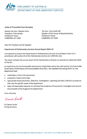 Letter Of Credit In Australia letters of transmittal parliament of australia