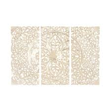 3 panel wood wall wood wall panel set of 3 66 w 48 h free shipping today