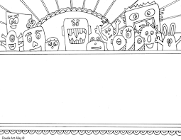 name templates coloring pages doodle art alley