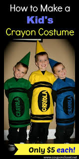 crayon costume how to make a crayon costume cost only 5 one