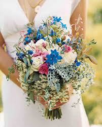 bouquets for wedding blue wedding bouquets martha stewart weddings