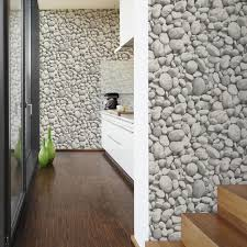 Kitchen Wallpaper Hd Gray Painted Bare Mineral U0027 Unusual Faux Large Pebble Stone Wallpaper In Grey