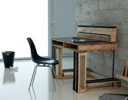 bureau palette bois bureau en palette creation palette