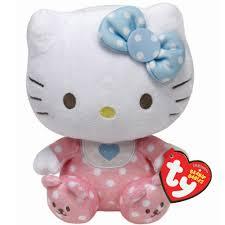ty kitty baby pink beanie 7 00 hamleys ty