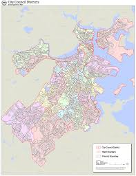 Boston City Map File 2012 Boston City Council Electoral Districts Map Jpg