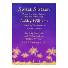 nights sweet 16 birthday party invitation card