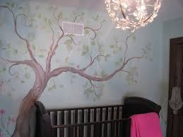 delightful tree mural painting ideas for home interior decoration