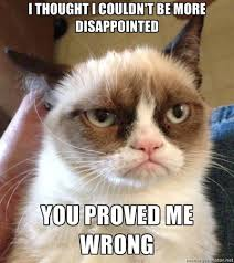 No Grumpy Cat Meme - grumpy cat meme no grumpy cat disappointment meme 5 best photos of