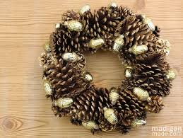 pinecone wreath gilded pinecone wreath