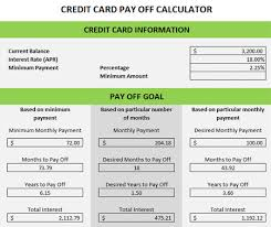Debt Payoff Spreadsheet Excel Credit Card Debt Payoff Calculator