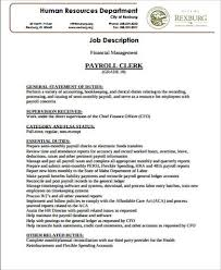 Sample Of Resume For Accounting Position by Accounting Job Description Job Description Format Pdf Financial