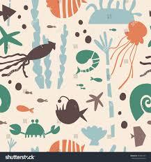 marine life underwater world modern design stock vector 534497347